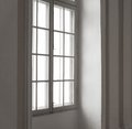 Window in a white frame Stock Image