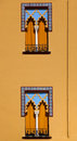 Windows in Arabian style at Cordoba Spain Stock Photo