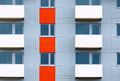 Windows and balconies of new residential building Royalty Free Stock Photo