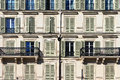 Windows and balconies Paris Royalty Free Stock Photo