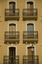Windows and balcony Royalty Free Stock Photo
