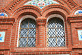 Windows behind bars in a church complex in moscow Royalty Free Stock Image
