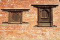 Windows, Bhaktapur, Nepal Stock Images