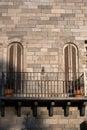 Windows on the brick wall Royalty Free Stock Photo