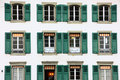 Windows on building in bern the the switzerland Royalty Free Stock Images