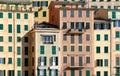 Windows in Camogli Royalty Free Stock Photos