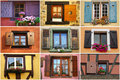 Windows collage Royalty Free Stock Photo