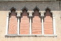 Windows with courtains in Venice Royalty Free Stock Photo