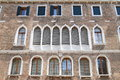 Windows with curtains in Venice Royalty Free Stock Photo