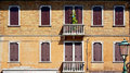 Windows doors and terrace of ancient house in murano venice italy Royalty Free Stock Photos