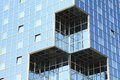 Windows in glass wall Royalty Free Stock Photo