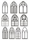 Windows in gothic style Royalty Free Stock Photo