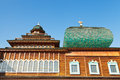 Windows of Great Wooden Palace in Kolomenskoe Royalty Free Stock Photography