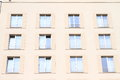 Windows of a hotel in prague czech republic Royalty Free Stock Photos