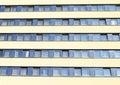 Windows of a hotel pyramida in prague czech republic Stock Photography