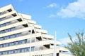 Windows of a hotel pyramida in prague czech republic Stock Images