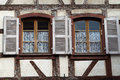 Windows of a house in eguisheim alsace france Stock Photos