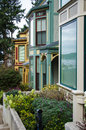 Windows luxury victorian style homes roche harbor san juan island reflect boats its harbor Stock Photos