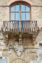 Windows on medieval brick wall Royalty Free Stock Photography