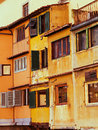 Windows on old house florence italy Stock Photography