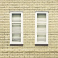 Windows pair of modern on the external wall of a house Royalty Free Stock Photos
