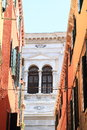 Windows of palace in Venice Royalty Free Stock Photo