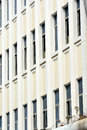 Windows pattern of white building Royalty Free Stock Images