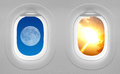Windows plane - opposites attract. Royalty Free Stock Photo