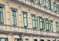 Windows repetition retro building thailand Royalty Free Stock Photos