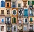 Windows from sicily collection of the Stock Image