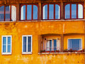 Windows with sky reflection florence italy Royalty Free Stock Images