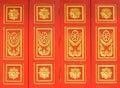 Windows temple thai art style Royalty Free Stock Image