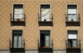 Windows in a typical spanish house. Royalty Free Stock Photo