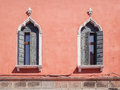 Windows in Venetian Gothic style. Royalty Free Stock Photo