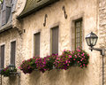 Windowsills in Old Quebec Stock Photo