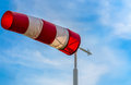 Windsock with an arrow Royalty Free Stock Images