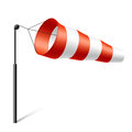 Windsock inflated by wind illustration Royalty Free Stock Images