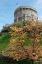 Windsor Castle during autumn Stock Images