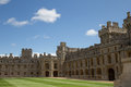 Windsor castle in england an expansive view of with green blue and white accents on a mid summer s day Stock Photography
