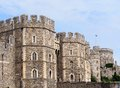 Windsor castle exterior protective walls of Royalty Free Stock Photography