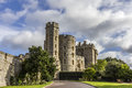 Windsor castle and garden near london uk Stock Photos