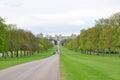 Windsor castle (long walk view), UK Royalty Free Stock Photo