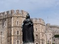 Windsor castle with statue of queen victoria Royalty Free Stock Photography