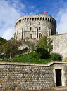 Windsor castle tower at with clouds in background Stock Photo