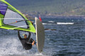 Windsurf jump Royalty Free Stock Photo