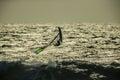 Windsurf wave jump windsurfer jumping a at beach Stock Photo