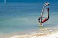 Windsurfer haifa israel july young operated the sailboard in haifa israel on july Royalty Free Stock Images