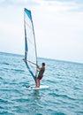 Windsurfer on the sea Stock Photo