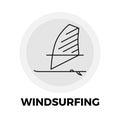 Windsurfing Line Icon