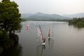 Windsurfing school in westlake hangzhou city of china Stock Photography